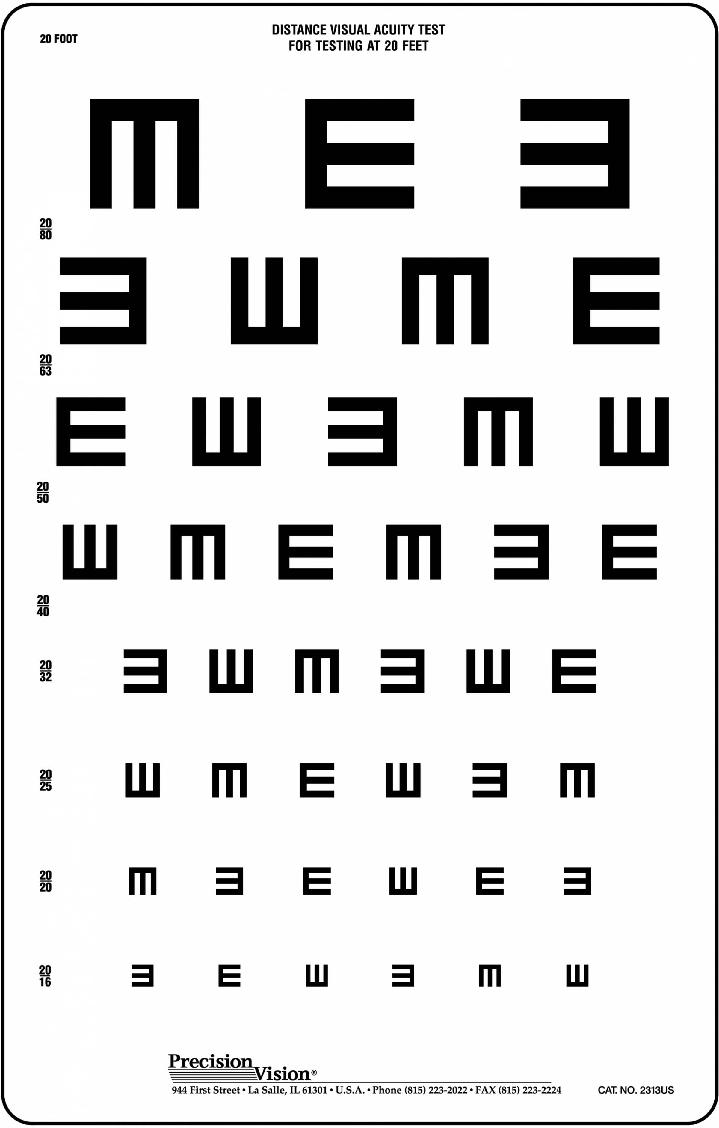 at home eye test