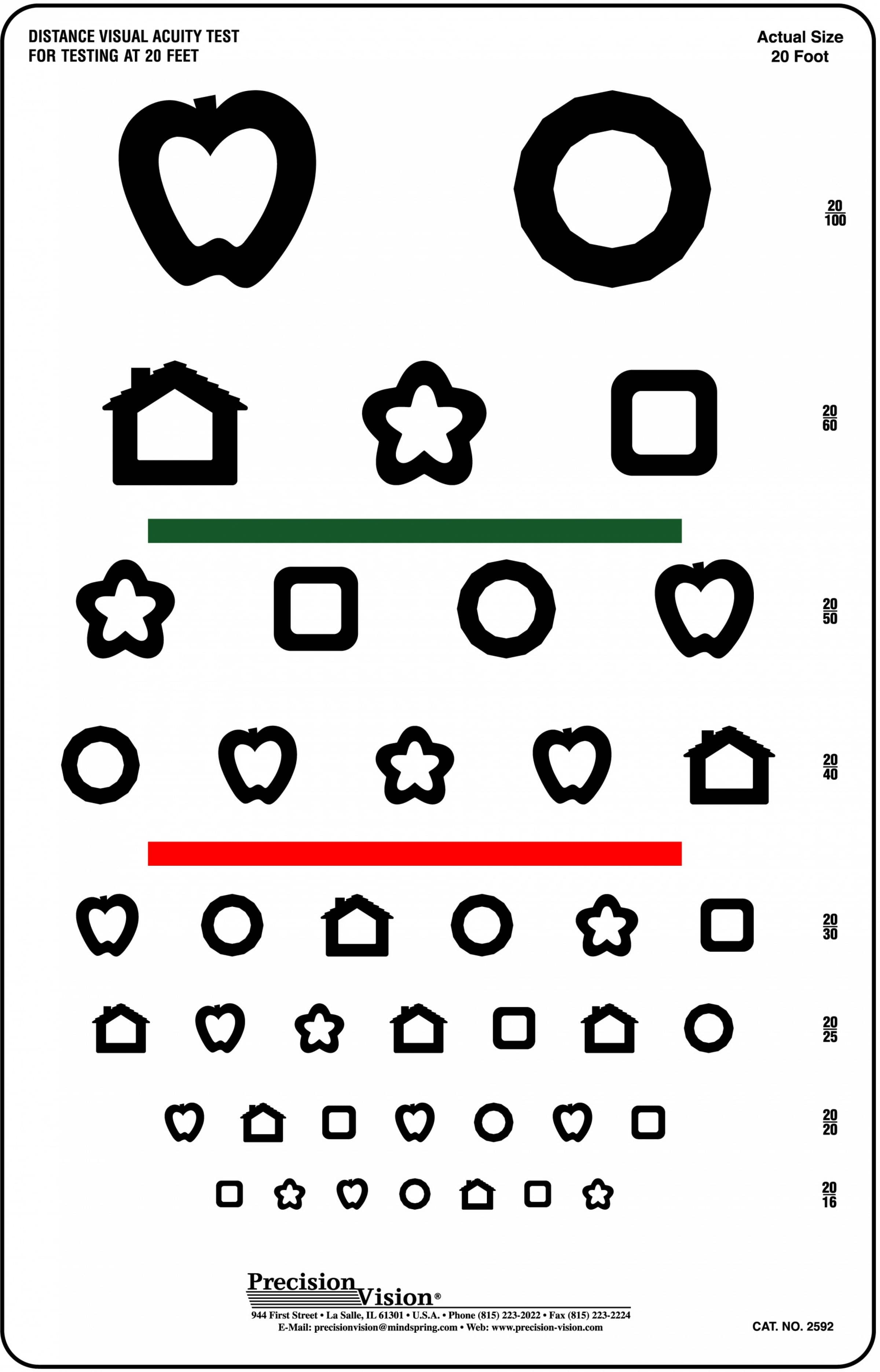 It's just a photo of Accomplished Printable Vision Test